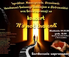 Koncert – It's not the end